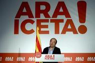 El primer secretario del PSC, Miquel Iceta, durante su intervención ante el Consell Nacional.