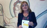 Victoria Rodríguez en la presentación de su tesis el jueves, en el Colegio de Abogados de Elche.