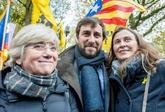 Clara Ponsatí, Toni Comín y Meritxell Serret, esta mañana en...