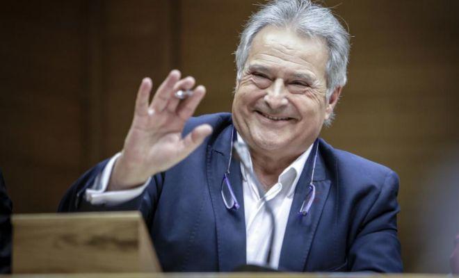El expresidente de la Diputación de Valencia, Alfonso Rus, comparece en la comisión de Les Corts que investiga la gestión de la empresa pública Ciegsa.