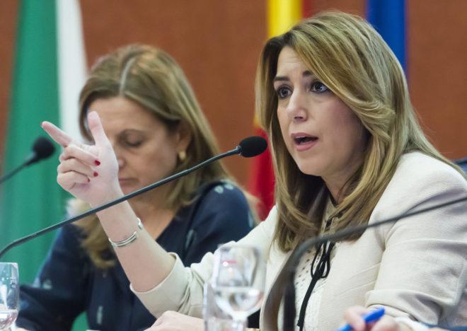 La presidenta de la Junta, la socialista Susana Díaz.