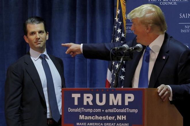 El hijo mayor de Trump y Wikileaks se escribieron mensajes en la campaña a la Casa Blanca