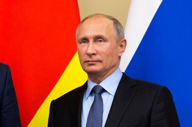El presidente ruso, Vladimir Putin, ayer, durante un acto en Moscú.