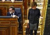 Rajoy y Sáenz de Santamaría en el sesión de control del Congreso