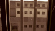 Vista desde una celda de la prisión de Teixeiro.