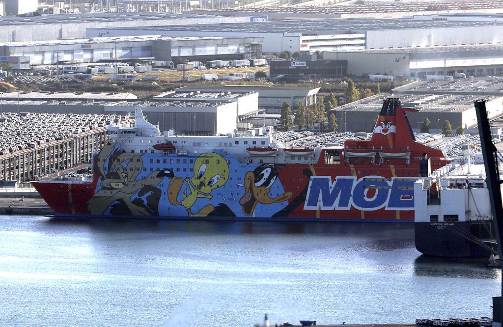 Uno de los barcos que sirvieron de alojamiento a los policías...