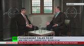 Carles Puigdemont, entrevistado por Alex Salmond.