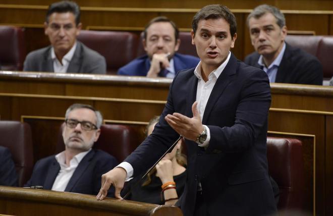 Albert Rivera, este miércoles en el Congreso de los Diputados.