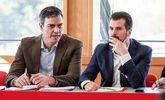 Pedro Sánchez, con el secretario general del PSOE en Castilla y...