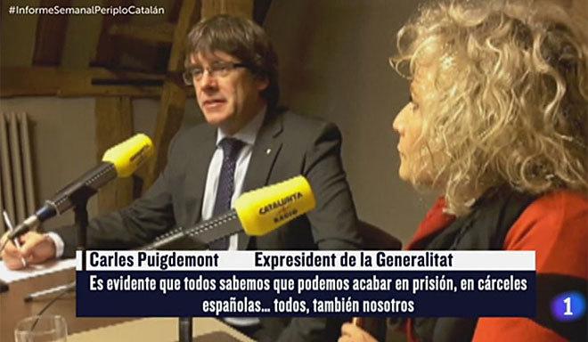 Imagen del reportaje 'El periplo catalán', de 'Informe semanal'.