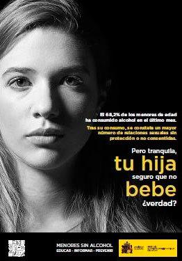 Sanidad retira un cartel que vinculaba la ingesta de alcohol en mujeres con violaciones