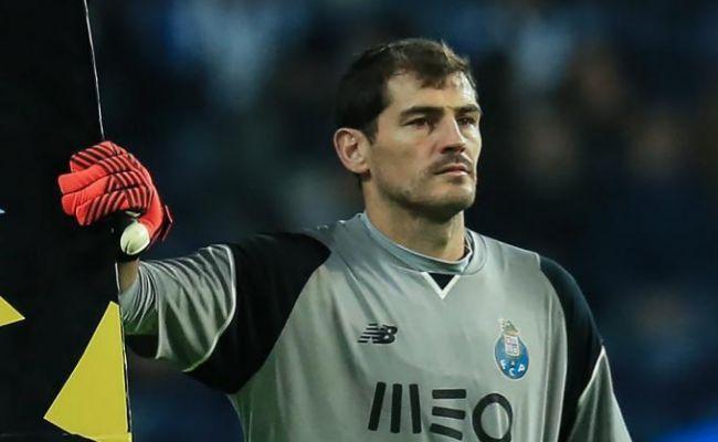 Iker Casillas durante el partido ante el Belenenses.