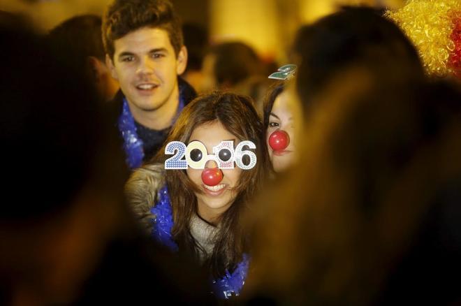 Fiesta de Nochevieja en Madrid.