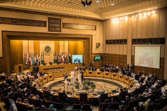 Un momento de la reunión de la Liga Árabe en El Cairo.