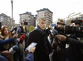 El abogado Agustín Martínez, a su llegada a la Audiencia Provincial...