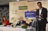 Pedro Sánchez, en el desayuno informativo celebrado en Bilbao.