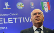 Carlo Tavecchio, en una rueda de prensa en Roma en 2014.