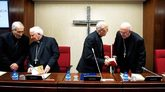 De izquierda a derecha: Rouco Varela, Antonio Cañizares, Ricardo...