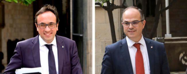 Los ex consejeros de la Generalitat Josep Rull y Jordi Turull
