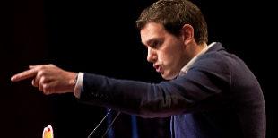 Albert Rivera durante la presentación de las candidaturas de...