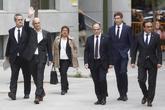 Ex consejeros del Gobierno catalán, a su llegada el 2 de noviembre a...