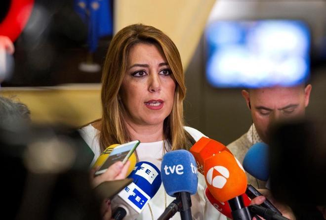 La presidenta de Andalucía, Susana Díaz, en Bruselas