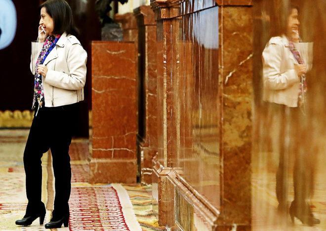 La portavoz del PSOE en el Congreso, Margarita Robles, en la Cámara...