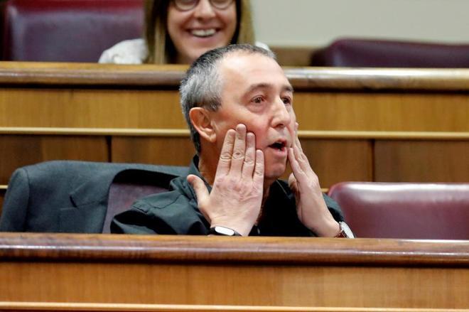 El diputado de Compromís, Joan Baldoví, en la sesión de control