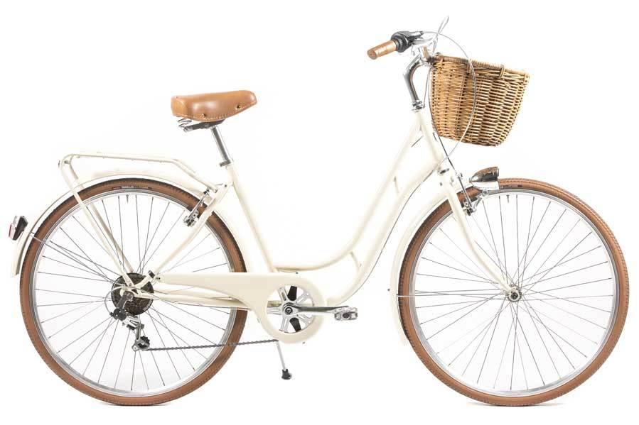 Bicicleta de paseo Capri Berlin Space, con cesta, de Biciclásica....