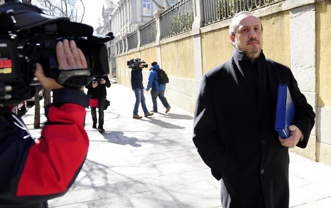 El empresario gallego Jorge Dorribo, al ir a declarar en el Tribunal...