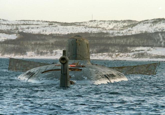 Imagen del submarino nuclear ruso Kursk.