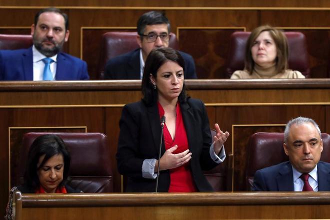 La diputada socialista Adriana Lastra.