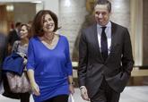 Eduardo Zaplana, con Ana Botella en 2013, cuando era alcaldesa.
