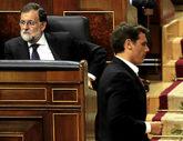 Rajoy y Rivera, en el Congreso de los Diputados