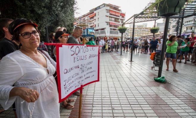 Protesta de camareras de piso en Benidorm.