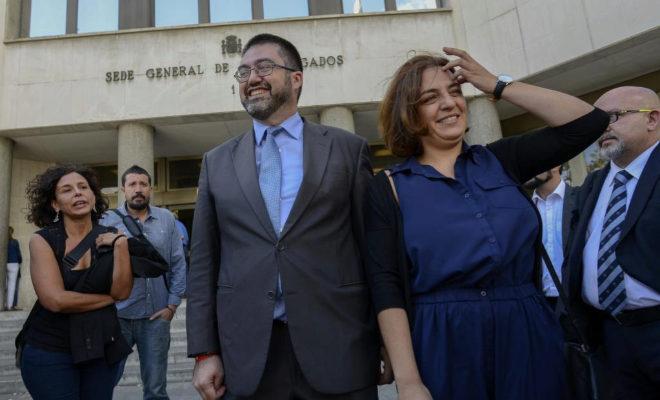 Los concejales de Ahora Podemos en el Ayuntamiento de Madrid, Carlos...