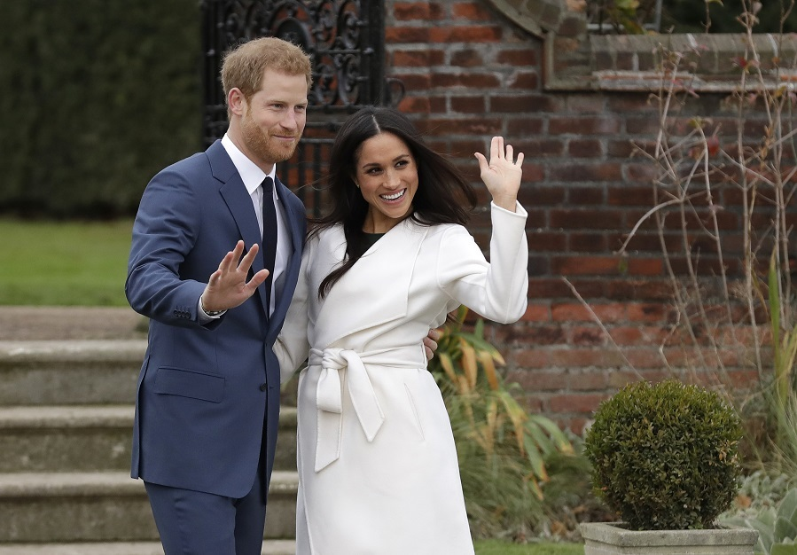 El príncipe Harry y Meghan Markle el día del anuncio de su compromiso.