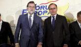 Mariano Rajoy y Alfonso Alonso, en el Fórum Europa.
