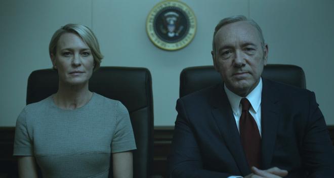 Robin Wright y Kevin Spacey, los protagonistas de 'House of Cards'.