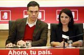 Pedro Sánchez y Adriana Lastra, en la reunión de la Ejecutiva del...