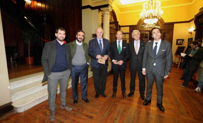 El ex seleccionador, este martes, en Castellón, donde ha impartido una conferencia.