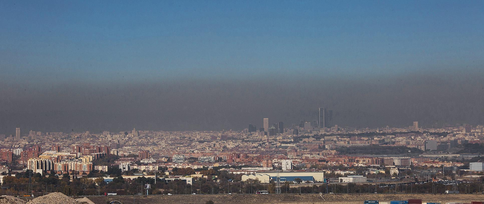9dfe3d19eba28 Vista de la boina de polución sobre Madrid SERGIO GONZÁLEZ VALERO