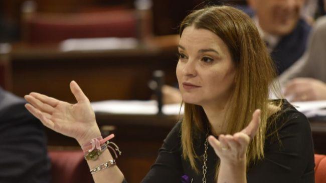 Marga Prohens en el Parlament, el 21 de noviembre.