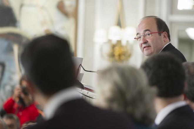 Miquel Iceta, en un acto celebrado el pasado lunes en Madrid.