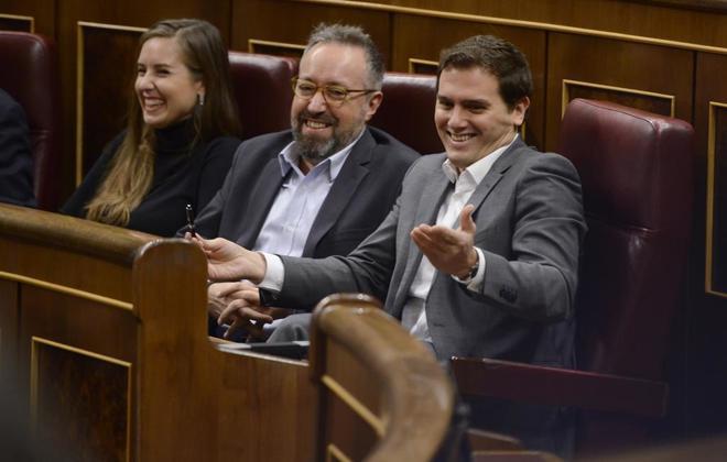 Albert Rivera ayer, en el pleno del Congreso de los Diputados.