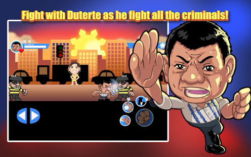 Imagen promocional del videojuego  'Duterte knows Kung Fu: Pinoy Crime Fighter'.'