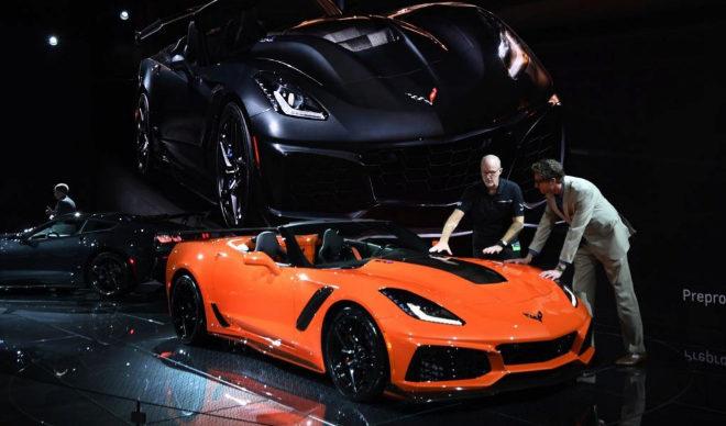 El nuevo Chevrolet Corvette ZR1, durante su presentación en Los...