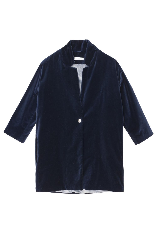 Abrigo de terciopelo azul marino para combinarlo con vaqueros y...