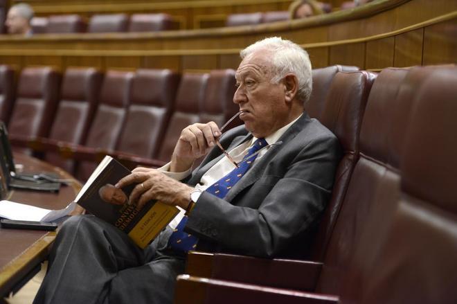 El ex ministro de Asuntos Exteriores José Manuel García-Margallo, en...