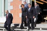 Cospedal, Zoido, Montoro y Méndez de Vigo, ayer, tras la reunión...